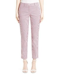 Michael Kors Michl Kors Samantha Check Stretch Cotton Pants