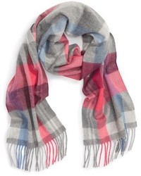 Light Violet Plaid Scarf