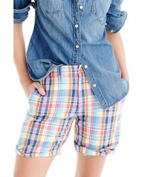J.Crew Pink Vintage Plaid Boyfriend Shorts