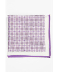 Michael Kors Michl Kors Plaid Pocket Square