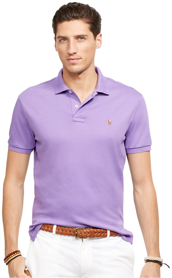 caaeb066 ... Violet Polos Polo Ralph Lauren Pima Soft Touch Polo Shirt ...