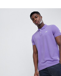 Hollister Solid Core Seagull Logo Polo Contrast Placket In Purple At Asos