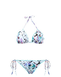 BRIGITTE Zebra Print Triangle Bikini Set