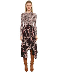 Isabel Marant Ruched Front Floral Printed Jersey Top