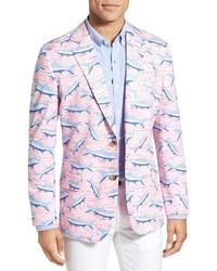 Vineyard Vines Tropical Tarpon Print Cotton Sport Coat