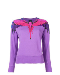 Marcelo Burlon County of Milan Bird Feathers Printed Sweater