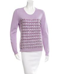 Embellished knit sweater medium 1160087