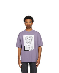 Acne Studios Purple Graphic T Shirt