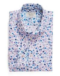 Light Violet Print Dress Shirt
