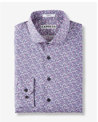 Express Extra Slim Floral Print Dress Shirt