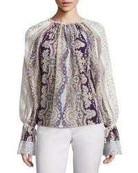 Etro Printed Silk Blend Blouse