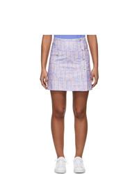 Kenzo Purple And Pink Straight Miniskirt