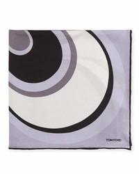 Tom Ford Circle Swirl Pocket Square Lavender