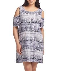 Tabitha print cold shoulder shift dress medium 4014743