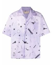 Marni Graphic Print Short Sleeve Shirt