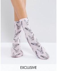 Bunny rabbit print ankle socks medium 3764563