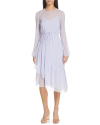 See by Chloe Asymmetrical Silk Midi Dress