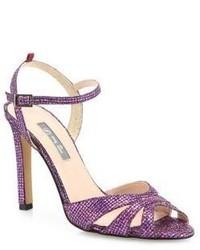 Sarah Jessica Parker Sjp By Westminster Glitter Ankle Strap Sandals