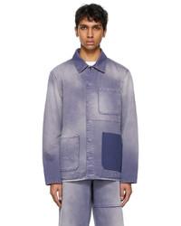 Valentino Purple Denim Shaded Jacket
