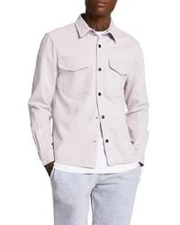 River Island Washed Cotton Twill Shirt Jacket