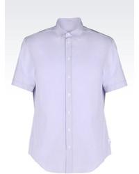 Armani Collezioni Shirt In Cotton Canvas