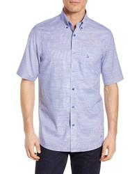 Nordstrom Men's Shop Classic Smartcare Regular Fit Short Sleeve Cotton Sport Shirt