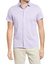 Robert Barakett Everglades Knit Short Sleeve Button Up Shirt
