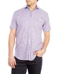 Bogosse Lavender Houndstooth Woven Shirt
