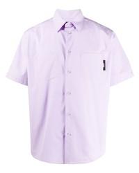 MSGM Logo Patch Short Sleeve Shirt