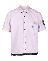 ROMEO HUNTE Paint Effect Short Sleeve Shirt
