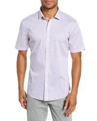 Zachary Prell Prescott Regular Fit Short Sleeve Button Up Sport Shirt