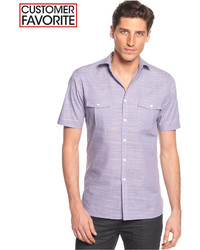 Short sleeve warren textured shirt only at macys medium 181416