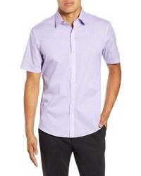 Zachary Prell Yule Regular Fit Short Sleeve Button Up Sport Shirt