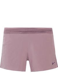Nike Roswift Mesh Trimmed Stretch Shorts Violet