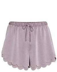 H&M Scalloped Hem Shorts
