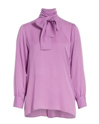 Gucci Silk Tie Neck Blouse