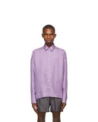 BOSS Purple Silk Shirt