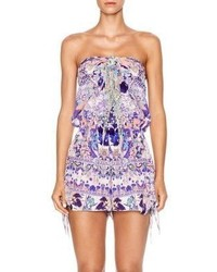 Camilla Chinese Whispers Still Life Silk Tie Front Romper