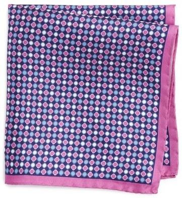 Pink Medallion Pocket Square Eton Ue242g