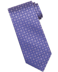 Stefano Ricci Tonal Circle Square Silk Tie