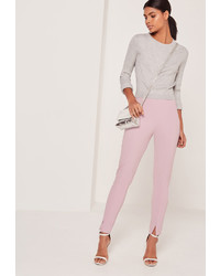 Missguided Skinny Fit Cigarette Trousers Lilac