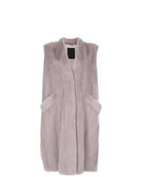 Light Violet Sleeveless Coat