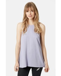 Light Violet Sleeveless Top