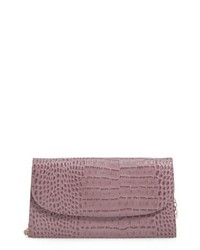 Nordstrom Snakeskin Embossed Leather Clutch