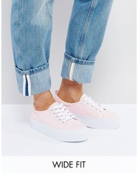Asos Dusty Wide Fit Flatform Sneakers