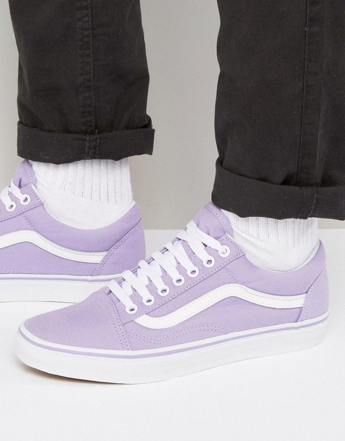 lavender vans old skool