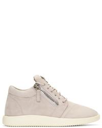 Giuseppe Zanotti Purple Suede Singleg Sneakers