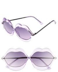 63mm Lip Sunglasses Purple