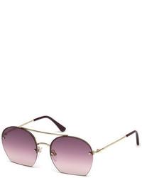 Tom Ford Antonia Cutoff Round Sunglasses