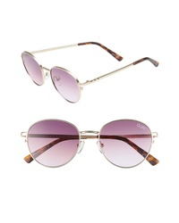 Quay Australia Crazy Love 45mm Round Sunglasses